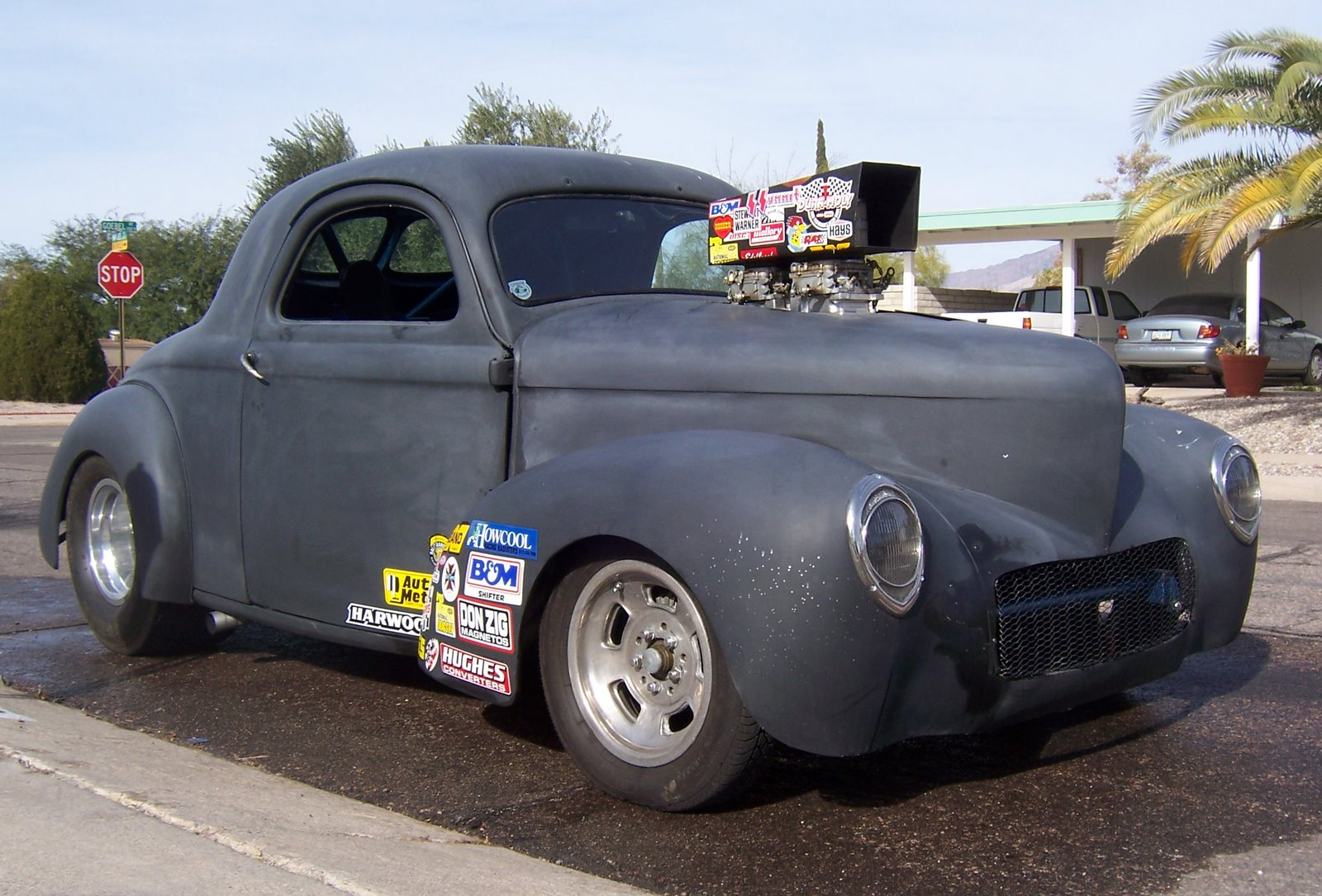 for sale 40 willys coupe steel main body glass doors deck lid front